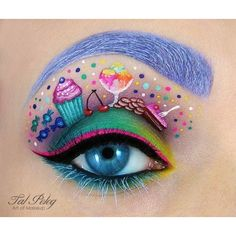 Tal Peleg's Eye Art Recreates Your Favorite Movies and Fairy Tales -... ❤ liked on Polyvore featuring beauty products