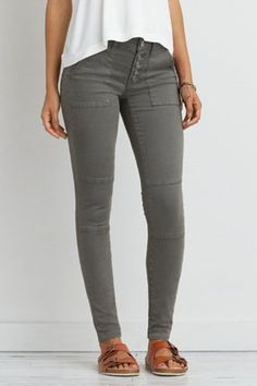 AEO Sateen X Jegging , Nightfall Green | American Eagle Outfitters