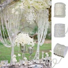 AB 10mm *30 Meters Glass Crystal Beads Curtain Living Room Passage Window Door Crystal Curtain Wedding Party Backdrop - Hespirides Gifts