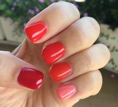 Gradient gel nails.