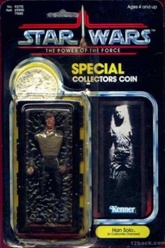 Han Solo (in Carbonite Chamber) Star Wars The Power Of The Force Vintage Action Figure with Special Collectors Coin by Kenner Star Wars Set, Star Wars Han Solo, Star Wars Figurines, Star Wars Toys, Retro Toys, Vintage Toys, Figuras Star Wars, Old School Toys, Star Wars Merchandise