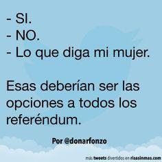 Opciones de los referéndum. #humor #risa #graciosas #chistosas #divertidas