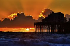 Stormy Seas at the Oceanside Pier at Sunset. November 10, 2012