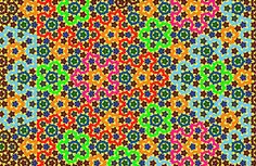 Penrose Tiling example in color.  It's an aperiodic pattern (never repeats).  Cool, huh?