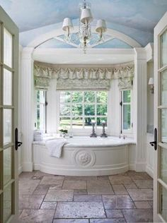 formal white bath