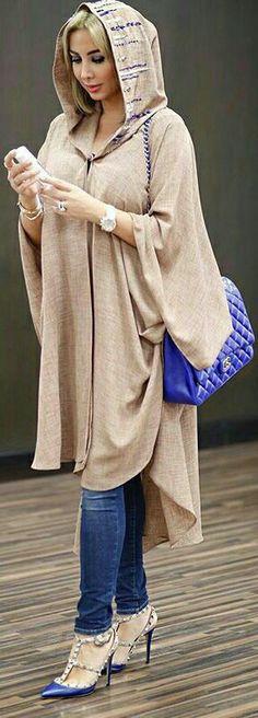 Djellaba Dubai Fashion, Abaya Fashion, Muslim Fashion, Modest Fashion, Boho Fashion, Womens Fashion, Fashion Design, Fashion Trends, Moroccan Caftan
