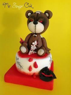 per la festa di primo compleanno del tuo bambino questo bellissimo orsacchiotto in pasta di zucchero realizzato da Mr Sugar Ciok https://www.facebook.com/pages/Mr-Sugar-Ciok/423141951110325?sk=timeline