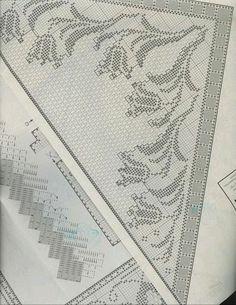 Schema 2 scialle Filet au crochet - Lita Z - Picasa Web Album