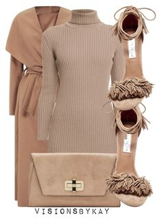 """Nude Series"" by kaythefrugalista ❤ liked on Polyvore featuring Rumour London, Diane Von Furstenberg and Steve Madden"