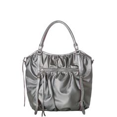 MZ Wallace Bianca in Gunmetal Twill Shop | For Holiday 2013 we crafted the Bianca in our limited edition soft coated gunmetal twill