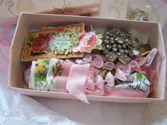 A little box filled with beautiful vintage goodies..