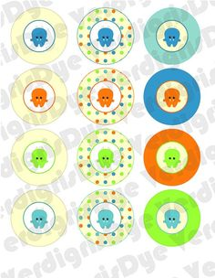 monster party circles printables
