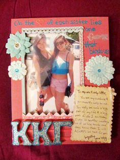 picture frames are always cute, this one is so personal and special!