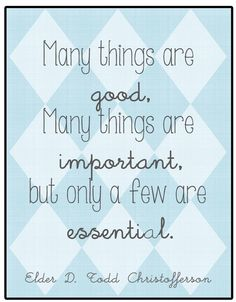 Chronicles of a Babywise Mom: Only a Few Things Are Essential