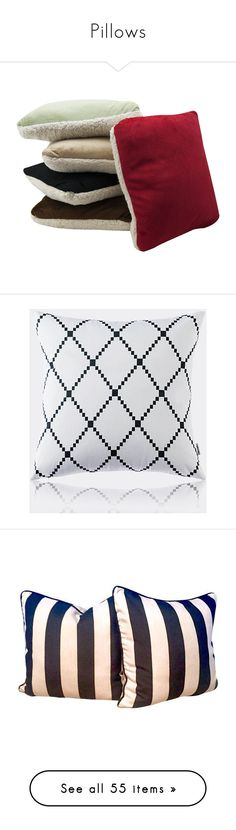 """Pillows"" by nocarboncopyii ❤ liked on Polyvore featuring red, home, home decor, throw pillows, home textiles, throws & pillows, velvet pillows, diamond home decor, black and white toss pillows and black and white accent pillows"