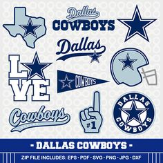 Dallas Cowboys SVG Files, Cowboys Football, Dallas Cowboys Cutting Files, Silhouette Cameo, Cowboys Logo, Cricut Svg,  SVG-07