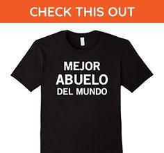 Mens Mejor Abuelo Del Mundo Camiseta Regalo Para Abuelito Shirt XL Black - Relatives and family shirts (*Amazon Partner-Link)