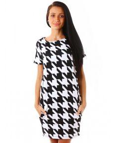 Рокля на Mohito | http://shopzone.bg/womens/рокли/83724/Дамска-рокля-в-черно-и-бяло-от-Mohito