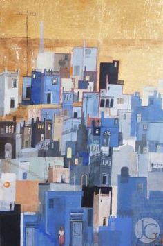 Paintings by Emmie van Biervliet from The Jerram Gallery, Sherborne, Dorset.  Contemporary British pictures and sculpture