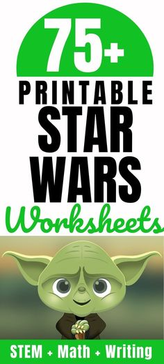 75 Star Wars Activities & Free Printable Worksheets Parent Vault: Educational Resources Lesson Plans & Virtual Classes - Printable Star Wars - Ideas of Printable Star Wars #starwars #printable #files - Star Wars Music, Star Wars Books, Printable Star, Free Printable Worksheets, Printables, Star Wars Classroom, Classroom Themes, Math Writing, Writing Activities