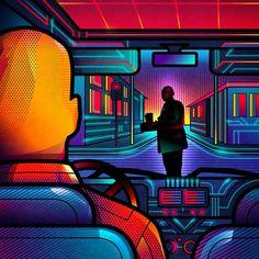 One Point Perspective – Des affiches de films alternatives entre pop art et années 80 (image)