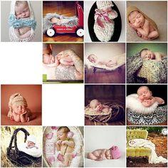 Andrea McClain. Newborn poses  props