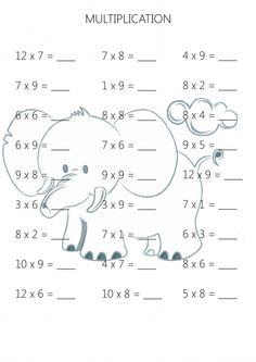 Easy Multiplication Practice Sheet 5