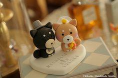 Custom Shiba Inu Wedding Cake Topper, dogs cake topper #cute #cakedecor