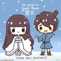 "Gather around, JapanLovers, because here comes our Japanese folktale of the day! (◕‿◕✿) ~~~ ✲The Legend of Yuki-onna ✲ むかしむかし (mukashi mukashi, or ""Once upon a time""), there was a handsome young man named Minokichi, traveling with his master in the..."