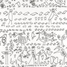 """Schumacher Aviary 15' x 27"""" Wallpaper Roll Color: Black/White"""