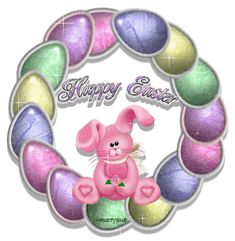 Happy Easter Egg Wreath