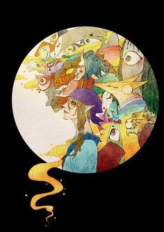 モノノ怪~《百鬼笙歌》新本开宣-中国语 Mononoke Anime, Kitsune Mask, Hotarubi No Mori, Ghibli Movies, Manga Characters, Hatsune Miku, Art Inspo, Dragon Ball, Otaku