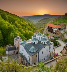 Osogovo Monastery near Kriva Palanka, Macedonia is home to an art colony and to an architecture school during the summer.  (by jordepro)