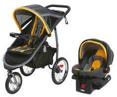 The crossover FastAction Fold Jogger Travel System from Graco combines the features of a traditional stroller with the performance of an all-terrain jogger. Comes with the SnugRide® Click Connect 35 infant car seat for true on-the-go convenience.