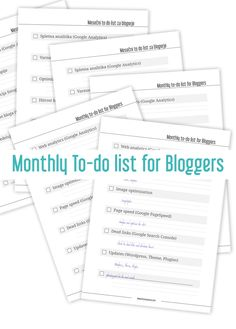 monthly-blogger-to-do #bloggingboost and #bloggingboosters