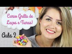 Curso Básico de Laços e Tiaras Grátis - Aula 2 POMPOM DE FITA - YouTube