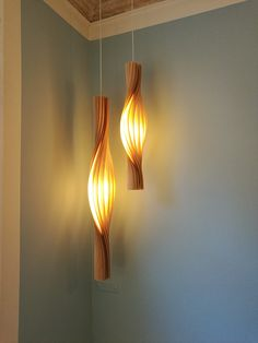 Wood Pendant Light, Art Furniture, Lamp, Lighting Design, Hall Lamps, Wooden Light, Bamboo Light, Wood Lamps, Light Fixtures