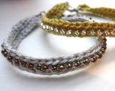 Crochet Beaded Friendship Bracelets Patterns   ... bracelets braided bracelets braided bead bracelets crochet seed bead