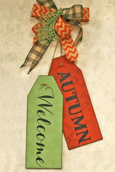 Gift Idea - make autumn (or winter, spring, or summer) door tags.