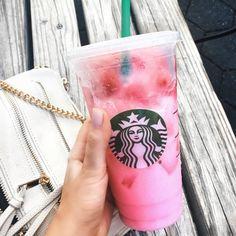 The pink drink Starbucks
