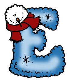 Abecedario Muñecos de nieve