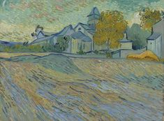 The Athenaeum - View of the Asylum and Chapel at Saint-Remy (Vincent van Gogh)  1889