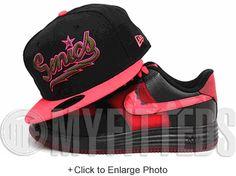 Seattle Supersonics Jet Black Infrared Pink Hot Violet Wet Moss KD VI Weatherman New Era Hat