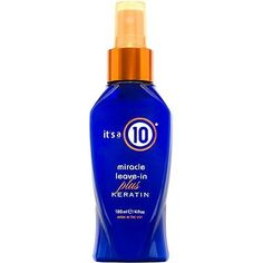 It's A 10 - Miracle Leave In Product + Keratin (Some of the best stuff you can get for your hair. I towel dry my hair then spray it on. Smells great. If your hair needs an extra boost, use this one.)