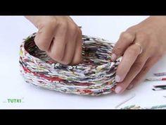 Košík x květnináč z kartonu (basket x flowerpot of cardboard) DiY - YouTube