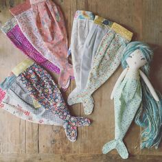 Mermaid tail for forest creatures doll