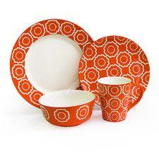 Trellis 16 Piece Dinnerware Set For Miss Rachel ;)