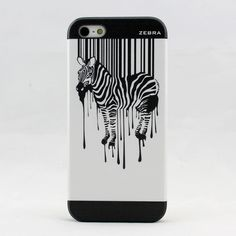 iPhone 5S Zebra Illustration Case