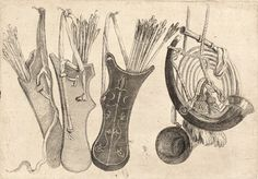 Wenceslas Hollar - Quivers and hunting horns c. 1625