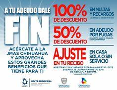 #JMAS Aprovecha los descuentos que tiene para ti.  #gobiernotransversal #gobiernodechihuahua #cuu #chihuahuamx
